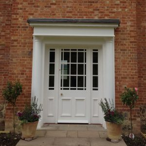 Bespoke Entrance doors, by others, installed and finished.