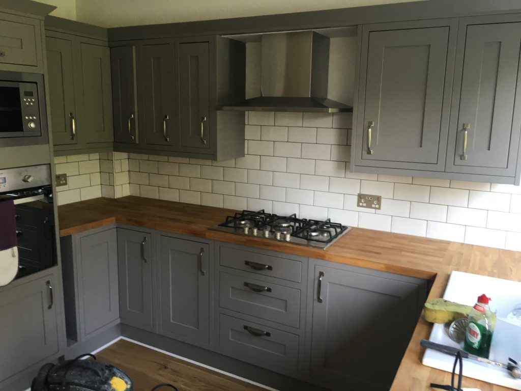 Fitted Kitchen, including all Tiling, Electrics and Plumbing.